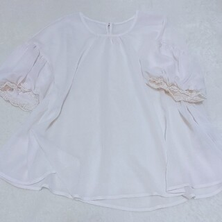 フランシュリッペ(franche lippee)の袖レース(シャツ/ブラウス(半袖/袖なし))