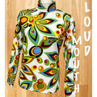 Loudmouth - 美品⛳️ラウドマウス  シャガデリック柄 裏起毛  ハイネック  モックシャツ