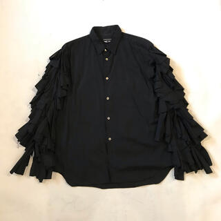 COMME des GARCONS HOMME PLUS - 20ss フリルシャツ 黒