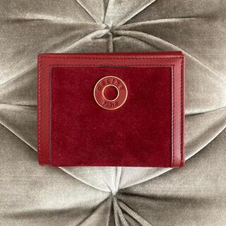 セリーヌ(celine)の秋mode突入‼️CELINE ❤️ サークルロゴ ベロア 折り財布(財布)