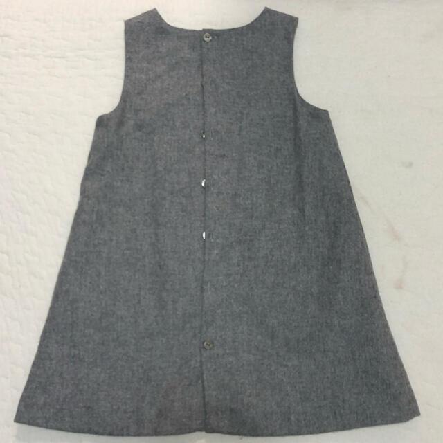 Jacadi(ジャカディ)のjacadi ポケット付きウールワンピース キッズ/ベビー/マタニティのキッズ服女の子用(90cm~)(ワンピース)の商品写真