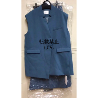 Ameri VINTAGE - AMERI OTONA WRAP VEST SET UP DRESS M ブルー