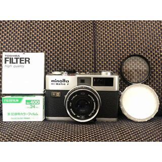 コニカミノルタ(KONICA MINOLTA)の1472o 完動美品 minolta HI-MATIC F Rokkor 38m(フィルムカメラ)