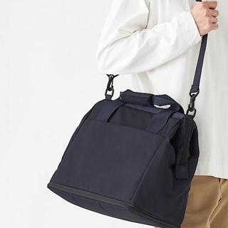 ムジルシリョウヒン(MUJI (無印良品))の無印良品 ブラック ボストンバッグ 新品タグ付き(ボストンバッグ)