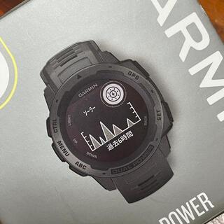 ガーミン(GARMIN)のガーミン インスティンクト デュアルパワー(腕時計(デジタル))
