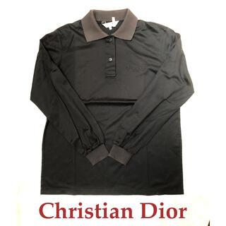 クリスチャンディオール(Christian Dior)の値下 美品 Christian Dior ディオール ポロシャツ 長袖 ゴルフ (ポロシャツ)
