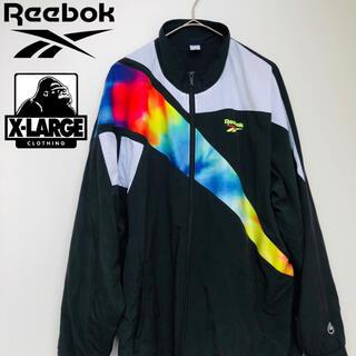 エクストララージ(XLARGE)のXLARGE × Reebok コラボ ナイロンジャケット ブラック XL(ナイロンジャケット)