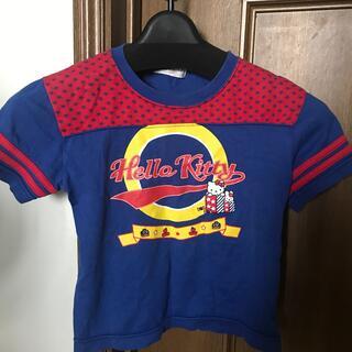 ハローキティ(ハローキティ)のキティーTシャツ 青 110(Tシャツ/カットソー)