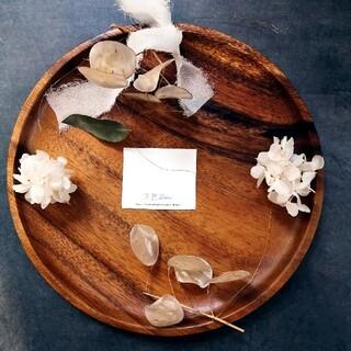 ルナリアとホワイト紫陽花のガーランド(ドライフラワー)