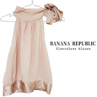 バナナリパブリック(Banana Republic)の新品 BANANA REPUBLIC バナナリパブリック ノースリーブブラウス(シャツ/ブラウス(半袖/袖なし))