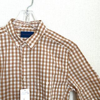 ムジルシリョウヒン(MUJI (無印良品))のGRAGEBLUE チェック 半袖シャツ メンズ(Tシャツ/カットソー(半袖/袖なし))