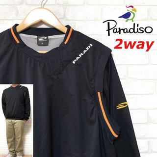 Paradiso - PARADISO パラディーゾ ゴルフ ウィンドブレーカー ベスト 2WAY仕様