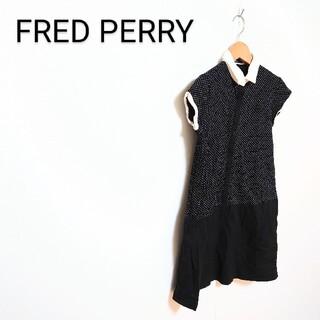 フレッドペリー(FRED PERRY)のFRED PERRY ドット柄 シャツワンピース(ひざ丈ワンピース)