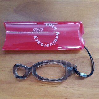 フォーナインズ(999.9)の非売品 ノベルティ 999.9 フォーナインズ セル製 メガネ型 ストラップ(サングラス/メガネ)