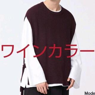 ジーユー(GU)のジーユー 試着のみ ニットスリットベストNT+E(ニット/セーター)
