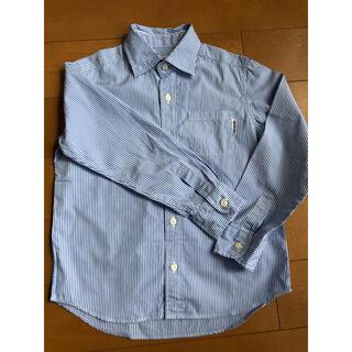 【MIKIHOUSE】ミキハウス  長袖 ストライプシャツ サイズ120