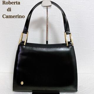ロベルタディカメリーノ(ROBERTA DI CAMERINO)の定番 ROBERTA DI CAMERINO  ハンドバッグ 黒 レザー(ハンドバッグ)