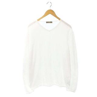 クルチアーニ(Cruciani)のクルチアーニ コットンVネックニット セーター 長袖 52 白 ホワイト /ES(ニット/セーター)