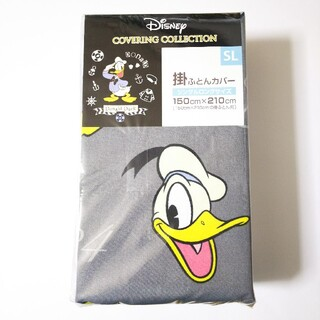 ディズニー(Disney)の■ドナルドダック 掛け布団カバー シングルロング 【グレー】Disney(その他)