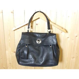 イヴサンローランボーテ(Yves Saint Laurent Beaute)の3396 イヴサンローラン ハンドバッグ 黒 革 イタリア製(ハンドバッグ)