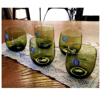 東洋佐々木ガラス - 佐々木ガラス ヴィンテージ レトログラス グラス 5個セット 新品