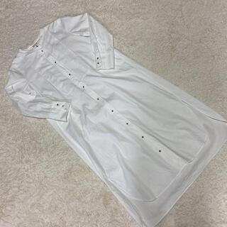 ジェラートピケ(gelato pique)のジェラピケ シャツワンピース ボタン ホワイト 白 羽織り ワンピ(ロングワンピース/マキシワンピース)