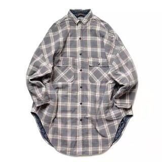 キャピタル(KAPITAL)のKAPITAL ネルチェック × キルティング スラッピーシャツコート(シャツ)