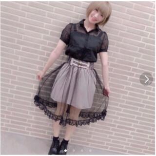 ロジータ(ROJITA)のロジータ ベルト付きチュールスカート(ひざ丈スカート)