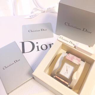 クリスチャンディオール(Christian Dior)の【希少】Diorクリスチャンディオールトロッターピンクレディース腕時計【稼働品】(腕時計)