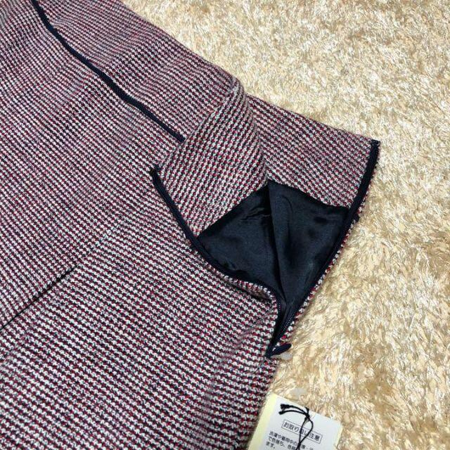MICHEL KLEIN(ミッシェルクラン)のタグ付き♡ミッシェルクラン コットンツイード セットアップ スーツ スカート レディースのフォーマル/ドレス(スーツ)の商品写真