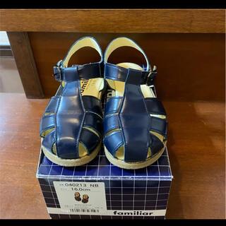 ファミリア(familiar)のファミリア 16㎝  2021年 靴下着用数回使用 男女兼用(サンダル)