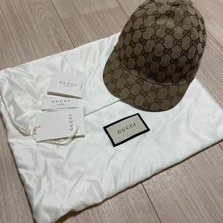 グッチ(Gucci)のGUCCI キッズ GGキャンバス キャップ グッチ 54 正規品(帽子)