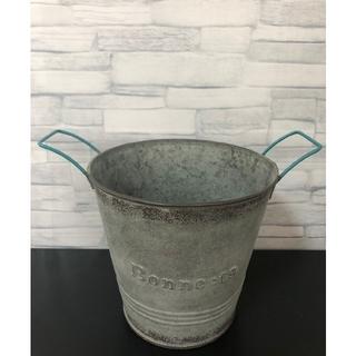 223 バケツ ブリキ プランター 植木鉢 インテリア ヴィンテージ(プランター)
