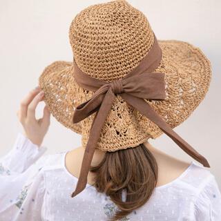 フラワー(flower)のFlower リボンハット(麦わら帽子/ストローハット)