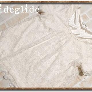 プライドグライド(prideglide)のプライドグライド 裏地付きレースカットソー 白(カットソー(半袖/袖なし))