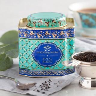 ロイヤルブレンド ルーズリーフ紅茶茶葉125g デコラティブ缶入り(茶)