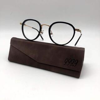 フォーナインズ(999.9)のフォーナインズ 999.9 M-43 メガネフレーム  黒金(サングラス/メガネ)