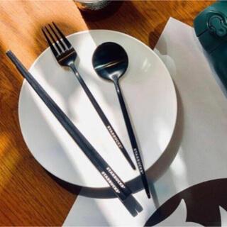 スタバ 台湾 スターバックス カトラリーセット クリスマス デニム 限定(カトラリー/箸)