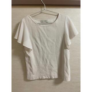 ビューティアンドユースユナイテッドアローズ(BEAUTY&YOUTH UNITED ARROWS)のTシャツ カットソー トップス フリル アイボリー(Tシャツ(半袖/袖なし))