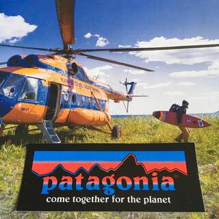 パタゴニア(patagonia)のpatagoniaパタゴニア限定激レアplanetバナーステッカー(サーフィン)