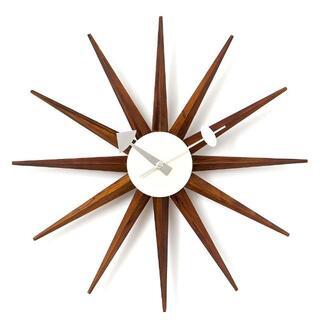 ジョージネルソン サンバーストクロック 時計 掛け時計 ネルソンクロック 茶