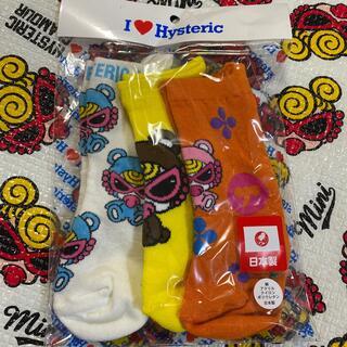 ヒステリックミニ(HYSTERIC MINI)の🌈75.モノグラム3pソックス(靴下/タイツ)
