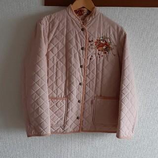 ピンクハウス(PINK HOUSE)のピンクハウス PINK HOUSE いちごリース刺繍 リバーシブルコート(ブルゾン)
