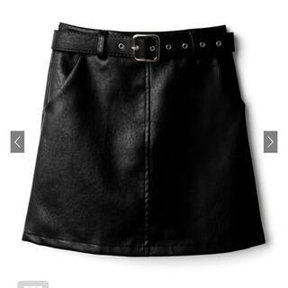 グレイル ベルト付きレザーミニスカート