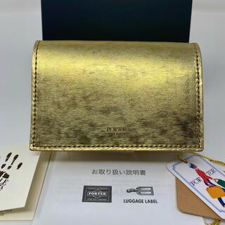 PORTER - 未使用☺︎PORTER FOIL ポーター カードケース フォイル ゴールド
