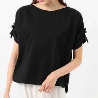フェルゥ(Feroux)のFeroux 【抗菌防臭】リボンブラウジング Tシャツ(Tシャツ(半袖/袖なし))