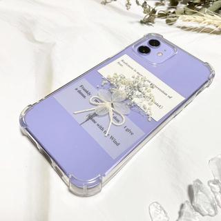 【✩大人気✩】スマホ用かすみ草ブーケ×紫陽花(ドライフラワー)