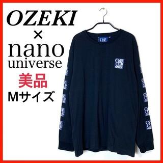 ナノユニバース(nano・universe)の【美品】ナノユニバース別注 OZEKI大関 ロングロゴTシャツ(Tシャツ/カットソー(七分/長袖))