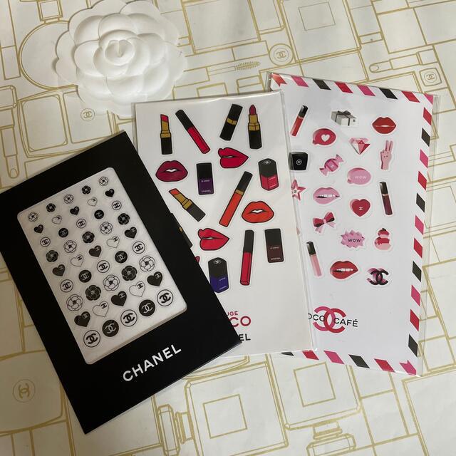 CHANEL(シャネル)のCHANEL ステッカー 3枚set インテリア/住まい/日用品の文房具(シール)の商品写真