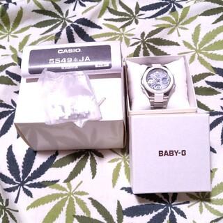 Baby-G - 電波ソーラー 腕時計 CASIO Baby-G msg-w100d ホワイト